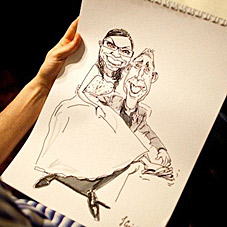 samples of bride and groom live caricature drawings for wedding and events by caricature your wedding.com